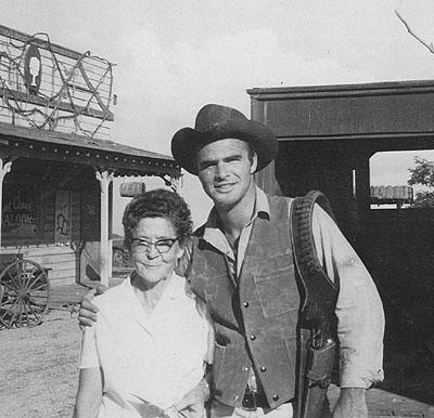 Grandma Skaggs with Burt Reynolds, about 1965
